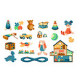 cartoon toys babies objects for playing games vector image