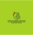 chameleon tour travel logo vector image vector image