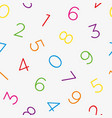 colorful numeral seamless wallpaper pattern vector image vector image