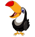 Cute cartoon toucan bird posing vector image vector image