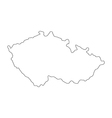 czech republic map vector image