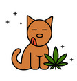 dog and cannabis leaf medical marijuana for pets vector image vector image