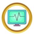 Electrocardiogram monitor icon vector image vector image