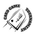 emblem of the card game vector image vector image
