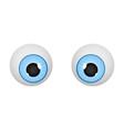 eyes cartoon eyeballs vector image