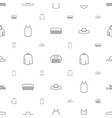 fashion icons pattern seamless white background vector image vector image