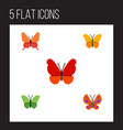 flat moth set of milkweed butterfly monarch and vector image vector image