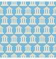 Flat Seamless Pattern Government School Bank vector image vector image