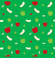 fruits apples seamless patterns vector image vector image