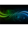 green and blue shiny wave vector image vector image