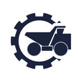 haul or dump truck icon vector image