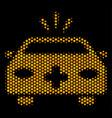 hexagon halftone emergency car icon vector image vector image