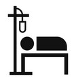hospital dropper icon simple style vector image vector image