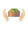 House Protected By Two Palms vector image