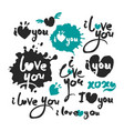 i love you calligraphy lettering set vector image vector image
