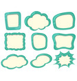 label templates in green color vector image vector image
