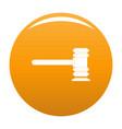 legislation icon orange vector image vector image
