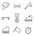 Line Icons Style Set of monochromatic vector image vector image