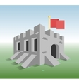Little old fortress vector image vector image