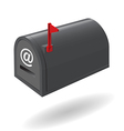 mail box black vector image vector image