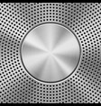 metal background with perforated pattern vector image vector image