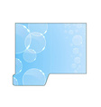 Modern crystal concept - folder cut-out vector image