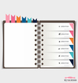 Modern Design template of spiral notebook with vector image vector image