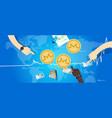 monero coin increase exchange value digital vector image vector image