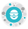 of air symbol on spectacles vector image vector image