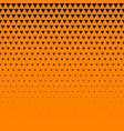orange background with dark blue triangle halftone