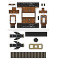 paper model a vintage electric locomotive vector image vector image