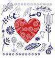 Pattern Folk Design vector image vector image