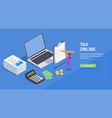paying taxes online background vector image vector image