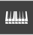 piano keyboard isolated on black background vector image vector image