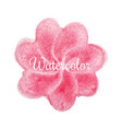 pink flower watercolor hand drawn background vector image