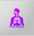 pneumonia icon design infographic health medical vector image vector image