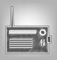 radio sign pencil sketch vector image vector image