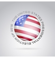 Red white and blue flag vector image