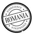 Romania stamp rubber grunge vector image vector image