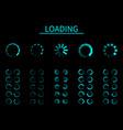 round loader progressive internet buffering vector image