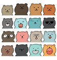 set bear vector image vector image