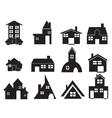 set house icons vector image vector image
