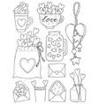 set of hand drawn of a mason vector image vector image