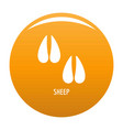 sheep step icon orange vector image vector image