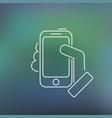smartphone thin icon vector image