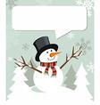 Snowman Christmas with dialogue balloon vector image