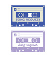 Song request card vector image vector image