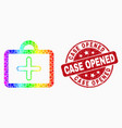 spectrum dotted first-aid case icon and vector image vector image
