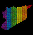 spectrum dotted syria map vector image