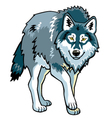 standing wolf vector image vector image
